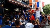 Grenoble en fête après la qualification de l'équipe de France pour la demi-finale de la coupe du monde 2018
