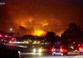 Fire Crews Perform Air Attacks Against Colorado's Lake Christine Fire