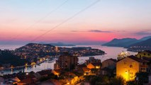 Free Video Background - dubrovnik sunset sea city timelapse time lapse (Video Loop)