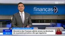 Ministério das Finanças admite atraso na devolução do orçamento privativo