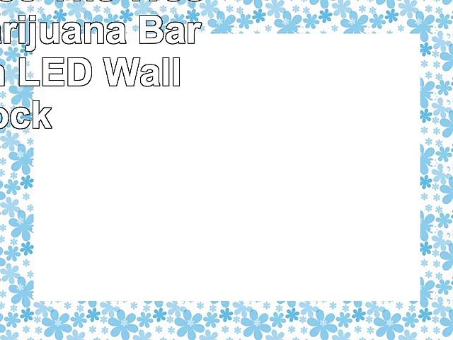 nc0290b Free The Weed Hemp Marijuana Bar Neon Sign LED Wall Clock