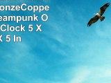 Veronese Resin Mantel Clocks BronzeCopper Finish Steampunk Owl Mantel Clock 5 X 105 X 5