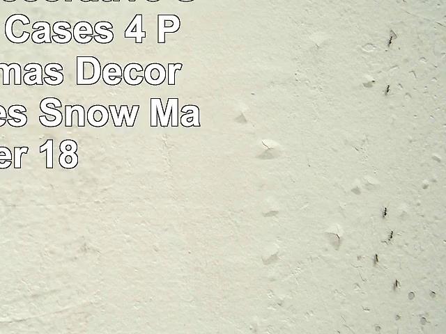 Wonder4 Decorative Sofa Pillow Cases 4 Pack Christmas Decor Pillow Cases Snow Man Deer 18