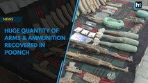 Huge quantity of arms & ammunition recovered in Poonch