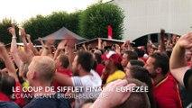Fin du match Brésil-Belgique à Eghezée