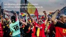 Les supporters belges fêtent la victoire des Diables rouges face au Brésil