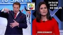 Encerramento Programa Silvio Santos e inicio Poder em Foco (24/06/18) (Com top de 5 segundos) | SBT (Dia único)