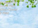 PHANTOSCOPE Set of 2 Button Red Linen Decorative Throw Pillow Case Cushion Cover 18X18