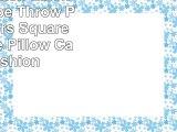 Sendia Cotton Linen Blend Stripe Throw Pillow Covers Square Decorative Pillow Case Cushion