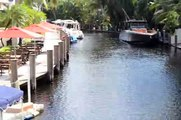 Fort Lauderdale canals near flood stage high tide