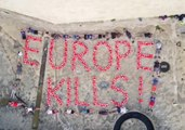 Activists Spell 'Europe Kills' in Life Vests as Rescue Ship Remains Seized in Malta