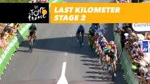 Last kilometer / Flamme rouge - Étape 2 / Stage 2 - Tour de France 2018