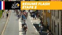 Résumé Flash - Étape 2 - Tour de France 2018