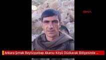 Ankara Şırnak Beytüşşebap Akarsu Köyü Düzkavak Bölgesinde 6 Temmuz'da Yapılan Operasyonda Etkisiz...
