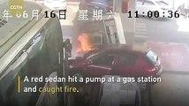 #فيديوسرعة استجابة عمال محطة وقود في #الصين تنقذ المحطة من كارثة.. والمسؤولون يكرمونهم#الوطن #منوعات #بكين