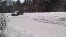 Awesome Tesla Drift and Spin in Snowfall | Amazing Car Drifting
