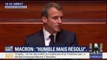"""Macron devant le Congrès: """"L'année écoulée aura été celle des engagements tenus. Ce que nous avons dit, nous l'avons fait."""""""