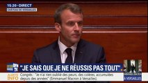 """Macron devant le Congrès: """"Une politique pour les entreprises ce n'est pas une politique pour les riches. C'est une politique pour toute la nation"""""""