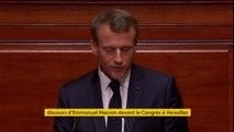 """Discours devant le Congrès : """"Ce n'est pas un projet pour la réussite matérielle de quelques-uns auquel je crois, c'est un projet pour l'amélioration de la vie de tous"""", garantit Emmanuel Macron"""