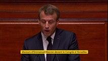 """Emmanuel Macron fixe une priorité : """"construire l'Etat-providence du 21e siècle. Un Etat-providence émancipateur, universel, efficace, responsabilisant"""" #CongresVersailles"""