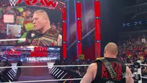 Brock Lesnar calls out Seth Rollins- Raw, January 19, 2015 - WWE Wrestling Fight Fighting MMA Match Sports