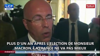 """Eric Ciotti Congrès de Versailles 2018 """" 1 an après l'élection de Macron, la France ne va pas mieux"""""""