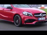 The new Mercedes-AMG A 45 4MATIC Jupiter Red - Racetrack Driving Video | AutoMotoTV