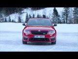 SKODA Octavia Combi RS 4x4 Driving in the snow | AutoMotoTV