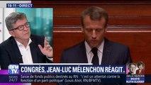"""Discours de Macron au Congrès de Versailles: """"C'est un introït absolument narcissique"""" (Mélenchon)"""