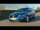 Skoda OCTAVIA RS in Blue Driving Video | AutoMotoTV