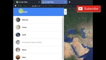 Planets in GOOGLE MAPS | How to watch diffrent planets & ISS in google maps new Update |