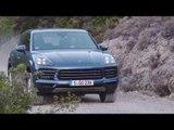 Porsche Cayenne S Biskaya Blue Metallic Driving off road