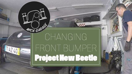Project New Beetle - Mounting a new bumber - DIY