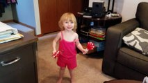 Adorable & Cute Toddler Dancing With Hand Slappers!!!