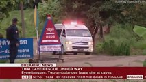 Thai cave rescue   First boys rescued - BBC News