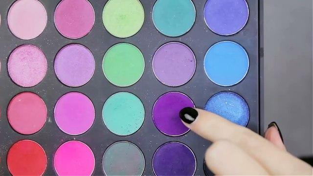 Purple Halo Eye Makeup + Glitter Eyeliner