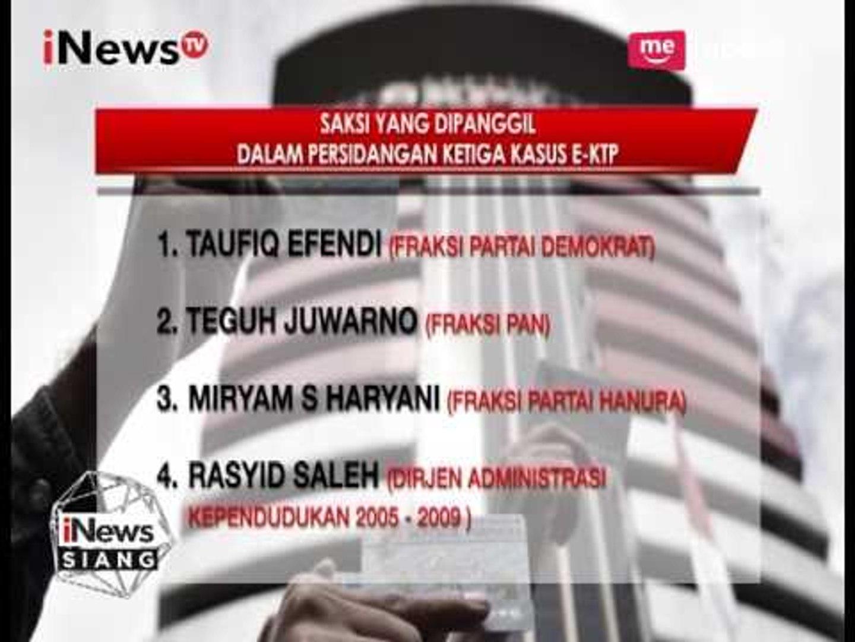 Berikut Nama-nama Saksi Dalam Sidang Kasus E-KTP Hari Ini - iNews Siang 23/03
