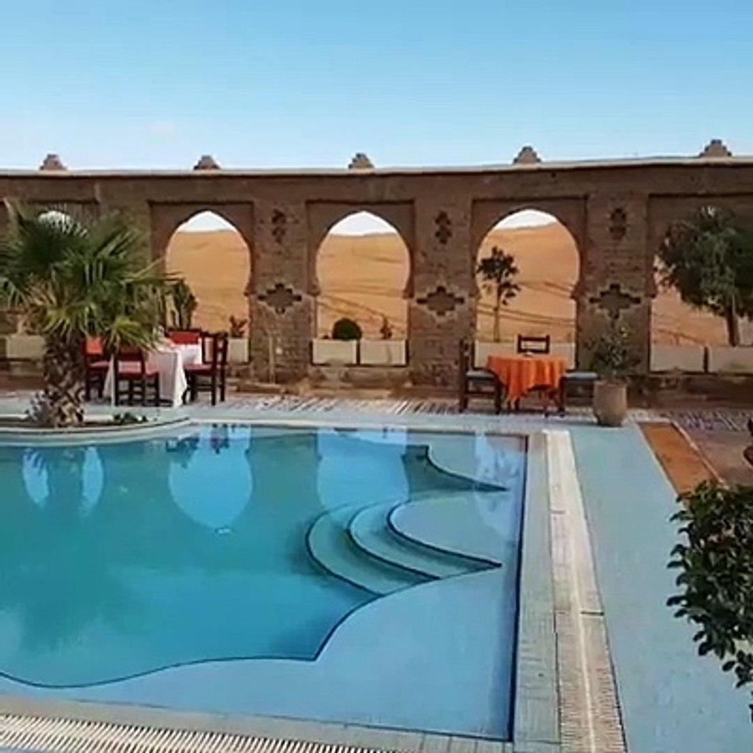 Hotel com piscina no Deserto do Saara - Cafe du Sud - Marrocos Directo das dunas! Venham comigo
