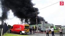Incendie centre automobile Feu Vert à Tarbes