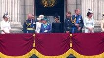 Royals watch RAF flypast from Buckingham Palace balcony