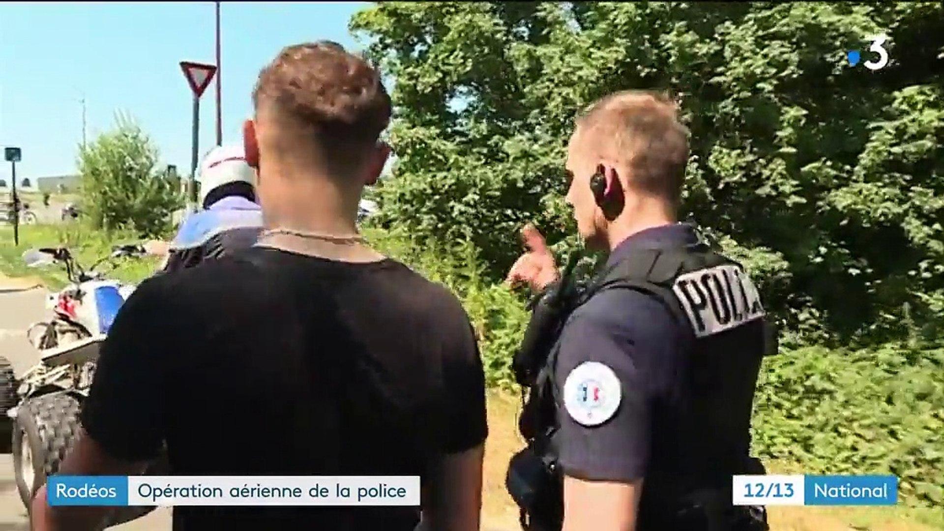Rodéos : opération aérienne de la police