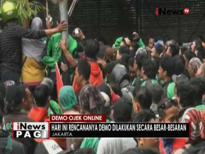 Puluhan ojek online hari ini akan lakukan aksi demo di Kemang - iNews Pagi 03/10