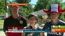 Mondial 2018, France-Belgique: les supporters affichent leurs couleurs