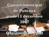 Conseil municipal de Puteaux du 14 décembre 2007 (1)