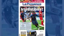 """Les Bleus en finale : """"Irrésistibles"""", """"La tête dans les étoiles""""... la presse française célèbre ses héros, la Belgique pleure la fin de son rêve"""