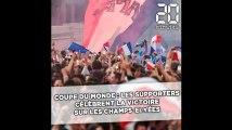 Coupe du monde : Les supporters célèbrent la victoire sur les Champs-Elysées