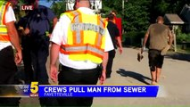 Man Trapped in Sewer Rescued by First Responders in Arkansas