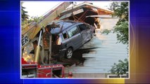 Minivan Goes Airborne, Crashes into Side of Wisconsin Home