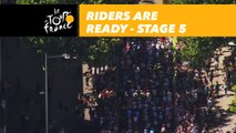 Les coureurs sur la ligne / Riders are ready - Étape 5 / Stage 5 - Tour de France 2018