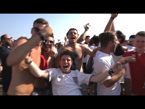 Brighton Beach Celebrates England Reaching World Cup Semi-Finals – Russia 2018 World Cup